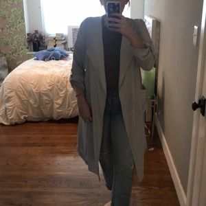 Zara light blue trench coat